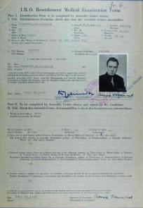Migrant selection document for CZERWIEC, Franciszek