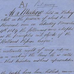Ballarat Reform League Charter - detail