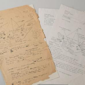 Field note written by Donald Thomson in Arnhem Land on 5th September 1936.The field note includes a drawing describing a bark painting and details the places along the Arnhem Land coast named by Macassans.