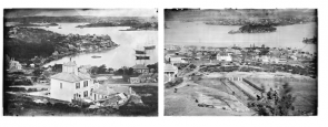Glass plate negatives of Sydney Harbour from the Holtermann residence, St. Leonards, 1870-1875