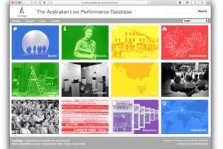 Screenshot of AusStage website