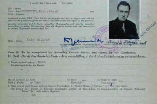 Migrant selection document for CZERWIEC, Franciszek