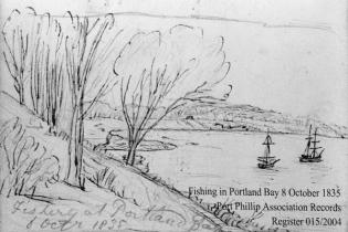 Fishing in Portland Bay, 8 October 1835