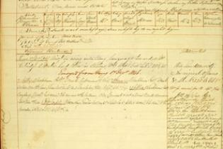 Conduct record for James Atkinson, transported on the John Renwick, arrived 11 April 1843, after escaping after earlier transportation (1829)