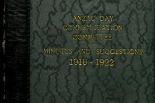 Anzac Day Commemoration Committee Minutes and Suggestions Cover